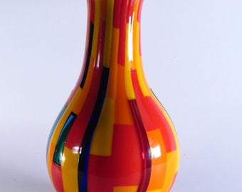 Scacchi - Multicolor Orange Vase