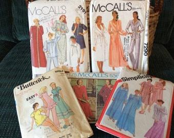 Vintage robe & pajama patterns