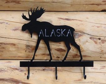 Alaska Moose Key or Towel Holder