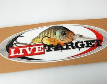 Live Target - Bass Boat Carpet Graphic - Decal Logo