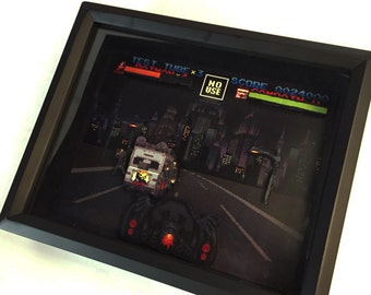 Batman Returns Nintendo SNES 8-Bit Classic Video Game - Shadow Box 8 X 10 Frame - Retro Gaming Geek Art