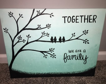 Family Canvas- Purple or Mint