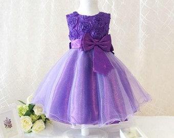 Girls party dress princess birthday dress wedding flower girl dress 5 colors