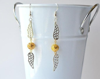 Golden Snitch Dangle Earrings - Harry Potter Inspired Quidditch Jewelry
