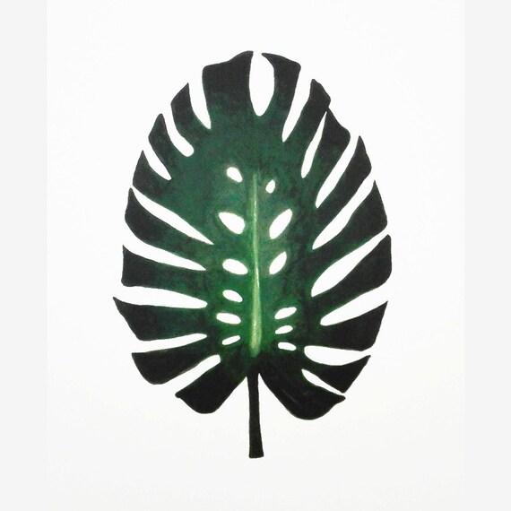 monstera leaf drawing monstera drawing monstera print. Black Bedroom Furniture Sets. Home Design Ideas