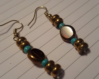Golden Nugget Dangle Earrings