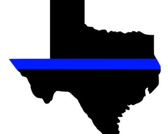 Texas Thin Blue Line Decal *Proceeds will be donated to Dallas Victims