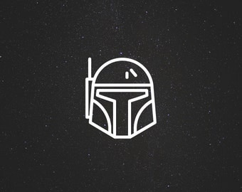 Boba Fett Decal / Star Wars Decals / Laptop Decals / Car Decals / Syfy Decals / Computer Decals / MacBook Decals / Window Decals