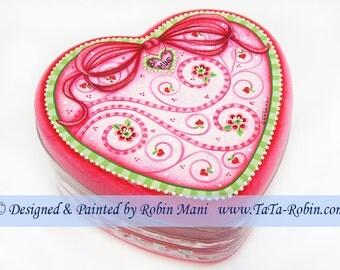 284 Valentine Swirls Decorative Painting Pattern