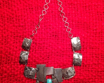 Collar 100% silver with turquoise