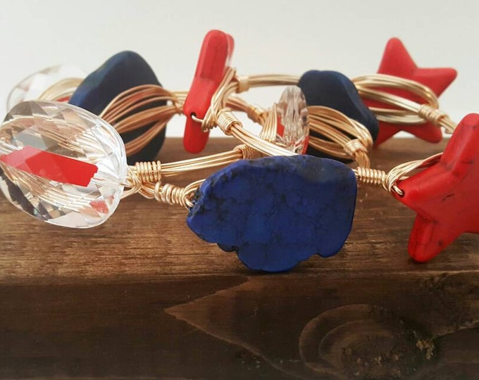 20% off Tennessee Wire wrapped Bangle, Tennessee Titans, bracelet, Bangle, Bourbon and Bowties Inspired