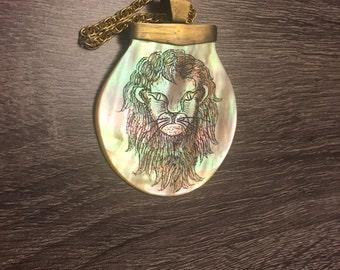 Vintage Lion Pendant Necklace