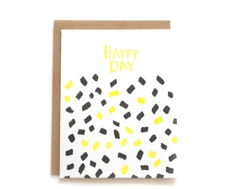 Happy Day Letterpress Card