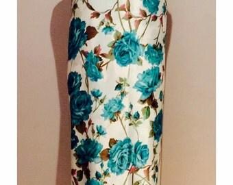 Pure silk fabric, floral silk, digital print, sold by the yard
