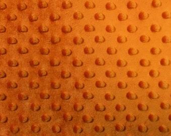 Minky Dimple Dot Fabric By The Yard Orange (W1)