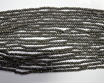 AAA Natural Pyrite Beads 3-4 MM 13 inches L05