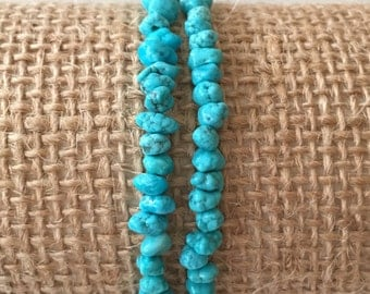 Set of Two Turquoise Stretch Bracelets