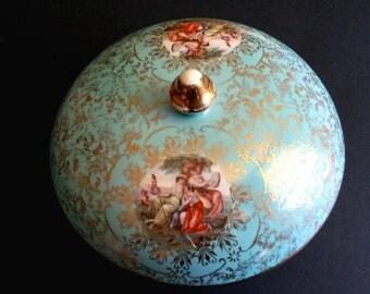 Vintage candy dish, ceramic jewelry box, china candy dish, candy dish with lid, candy bowl