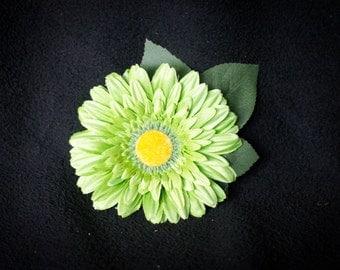 Large Lime Green Daisy Hair Clip