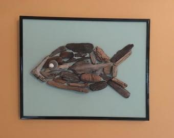 Driftwood fish art