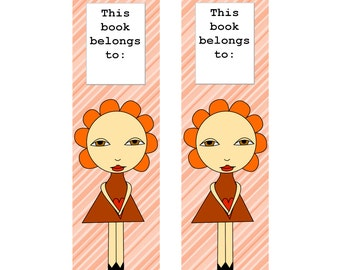 Printable Bookmarks, Instant Download, Back to School, Bookmark, For Girl, Print at Home