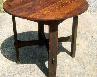 REDUCED!!! 750 Rare 1902 Gustav Stickley Antique Table 1902 ARTS and CRAFTS