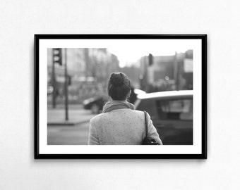 Street Girl / Budapest / Hungary / Black and White