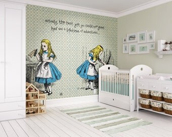 Photo Wallpaper Wall Mural For Childrenu0027s Bedroom, Girls Room Decor,  Nursery Decor   Alice