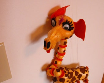 Handcrafted Giraffe Marionette   (476)
