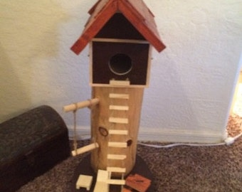 Hand crafted garden birdhouse