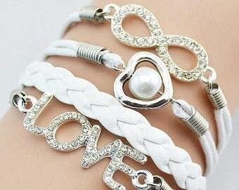 Multi Layers Infinity Bracelets