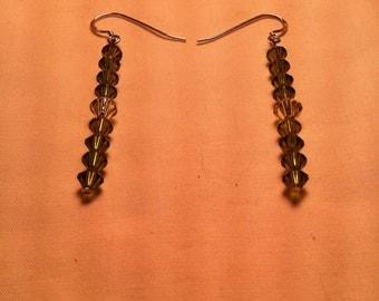Peridot & Swarovski Crystal Earrings