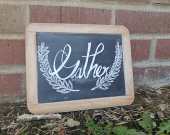 Gather/Blessed Vintage Slate Chalkboard