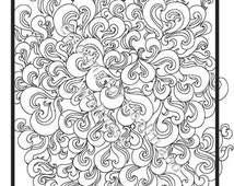spiral coloring pages to print | Unique spiral coloring page related items | Etsy