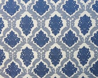 Upholstery/Drapery Jacquard Fabric Darius 100 Midnight By The Yard