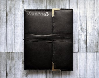 Black male notebook with ties
