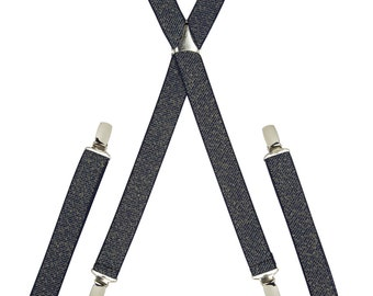 Sparkling Navy and Gold Skinny Braces