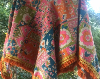 Flower Power Vintage Poncho