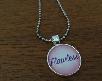 Flawless Pedant Necklace, Gay, Happy, Awesome, Pink