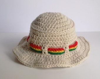 Tan Rasta Bucket Hat