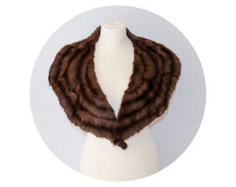 Vintage XL Brown Squirrel Collar