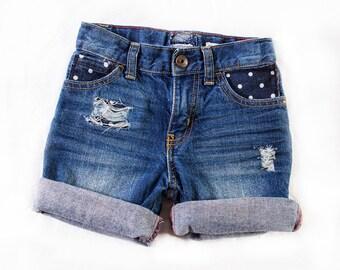 """Mini MINX Custom """"Dotted"""" Jeans Size 4T"""