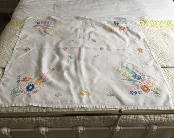 Vintage embroidered tablecloth.