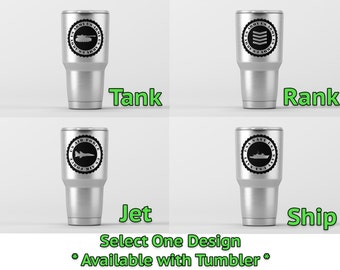 Military Badges (select one)  / Yeti Decal / Vinyl Decal / Yeti Tumbler Decal / Yeti Cup Decal / RTIC / ***Tumbler Available***