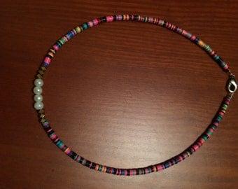 Vinyl bead choker