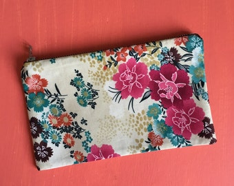 Floral Print Make Up Bag