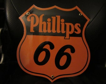 Porcelain Phillips 66 Sign