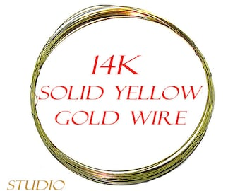 14K real solid yellow gold wire – 4 inch (10 cm)
