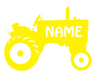Personalized glossy Vinyl Decal, John Deere