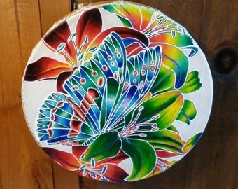 Mystic Butterfly Hand Drum